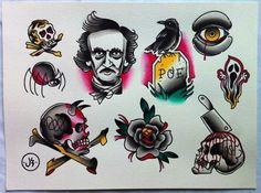 Edgar Allan Poe tattoo inspiration