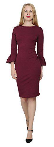 Marycrafts Womens Flounce Flare Sleeve Pencil Dress Cockt... https://www.amazon.com/dp/B0714FW3ZY/ref=cm_sw_r_pi_dp_x_b7bvzb83MZ021