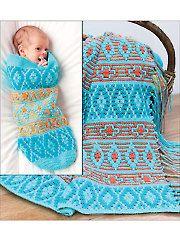 Crochet - Native American Afghan & Baby Cocoon - #837461
