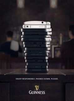 phones down for a Guinness