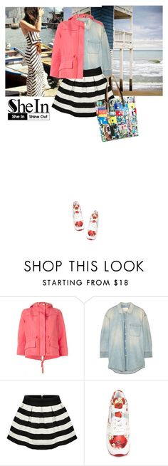 """""""stripe mania"""" by saramoreira ❤ liked on Polyvore featuring moda, Lindsey Adelman, Boden, Moncler, R13, Dolce&Gabbana, Marni, women's clothing, women y female"""