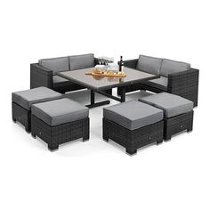 Attraktiv Rattan San Diego Dallas Baby Rattan Garden Furniture Grey Cube Sofa Set The  Rattan Is Ultraviolet (UV) Light Resistant Available In Brown Or Grey Weave