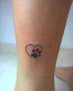 Ideas tattoo dog heart ink for 2019 Tiny Heart Tattoos, Bff Tattoos, Mini Tattoos, Foot Tattoos, Cute Tattoos, Body Art Tattoos, Small Tattoos, Cat Paw Print Tattoo, Tattos