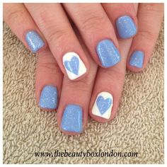 Jessica GELeration in True Blue, Chalk White and Wedding Band. Created by Sophia, The Beauty Box.