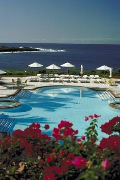 The Four Seasons Resort Lanai at Manele Bay overlooks Hulopo'e Beach. Such an amazing view! #iheartlanai #hawaii