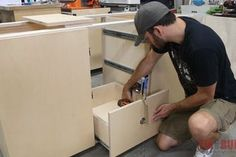 6 Easy Steps to Make Drawers : 6 Steps (with Pictures) - Instructables Vanity Drawers, Cupboard Drawers, Diy Drawers, Large Drawers, Wooden Cabinets, Diy Cabinets, Base Cabinets, How To Make Drawers, Lumber Sizes