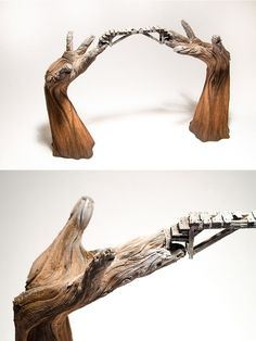 Impressive Ceramic Sculptures by Christopher David White Look Like Wood Sculptor Christopher David White creates impressive ceramic sculptures, which resemble the characteristic of wood through a trompe l'oeil style. [[MORE]] By deceptively molding...