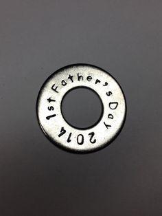 1st Father's Day, Dad Keychain by HazelJewelryDesigns