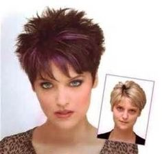 nice nice Short Spiky Haircuts for Round Face Women...