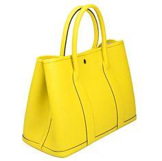 Ainifeel Women s Genuine Leather Top Handle Handbag Shopping Bag Tote Bag  (Lemon yellow) Cow 4777608dd083c