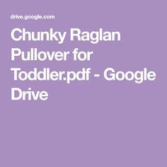 Chunky Raglan Pullover for Toddler. Toddler Knitting Patterns Free, Chunky Knitting Patterns, Knitting For Kids, Knitting Projects, Sweater Patterns, Knitting Ideas, Crochet Car, Baby Afghan Crochet, Knitted Baby