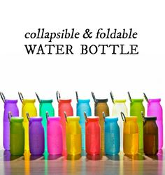 The perfect size for a gym class, a hike, or any activity where it pays to travel light, this BPA-free water bottle is foldable, versatile, and durable.
