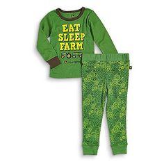 John Deere Boys Eat, Sleep, Farm Pajama Set Tractorup.com John Deere Kids, Pajama Set, Pajama Pants, Kids Hats, Eat Sleep, Boys, Clothes, Fashion, Baby Boys