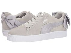 Puma Kids Suede Bow (Big Kid) (Gray Violet Gray Violet) Girl s c7ef22c3d