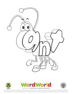 visit us at pbskidsorgwordworld 2007 word world llc - Word World Coloring Pages