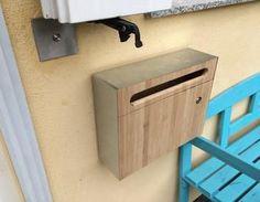 Schnell gebaut - Bambus Briefkasten mit Stahlblechverkleidung Briefkasten,Mailbox