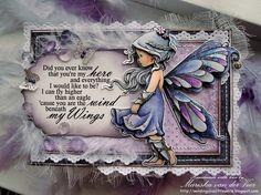 Silver Fairy by Mariska van der Veer by Wee Stamps Photos, via Flickr