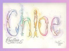 Personalized Name Art Illustration Original by camillioncreations, $5.00