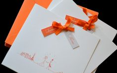 Faire-part ruban Mariage Laurence & Thomas #fairepart #mariage #wedding #ribbon #fairepartsurmesure #latelierdelsa