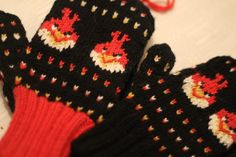 Angry Birds mittens