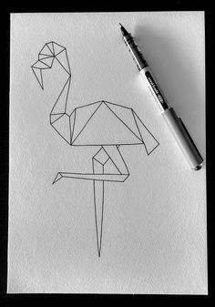 Check out this item in my Etsy shop https://www.etsy.com/uk/listing/561340417/geometric-flamingo-illustration-original