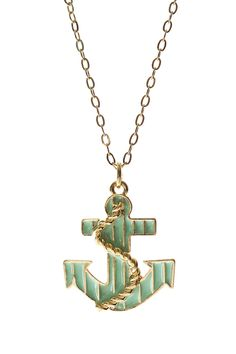 Jami Rodriguez Mint Anchor Necklace on HauteLook