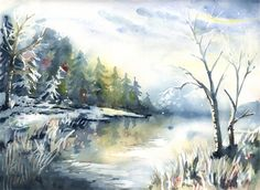 """Oil on Canvas 16x12 inches Cross my little bridge to Springtime! Thank you in advance for any comments andto anyone kind enough to add this painting to their collections. Please """"LIKE"""" me on ..."""