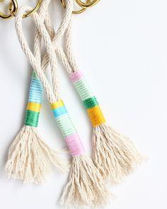 DIY rope tassels