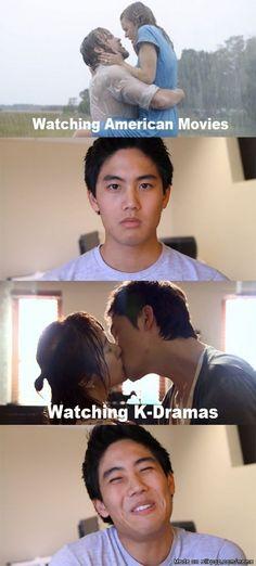 american dramas vs korean dramas... the feels just aren't the same!