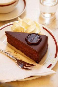 The Best Desserts in the World - Sachertorte from Cafe Sacher Wien in the Hotel Sacher in Vienna