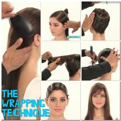 The wrapping technique , used to straighten hair with no heat!!!!
