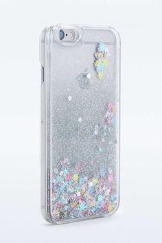 Coque avec eau pailletée pour iPhone 6