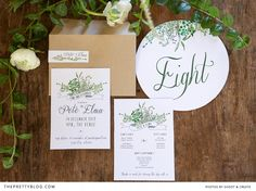 Farm wedding inspiration stationary | Photographer: Shoot and Create