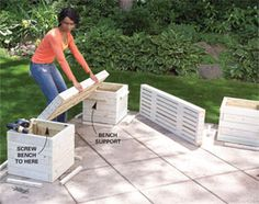 DIY planter bench - when I get neighbors I may want this on my side patio for privacy