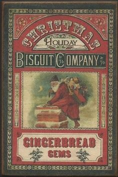 ~Santa~Christmas~Gingerbread~Vintage Style Advertisement~368