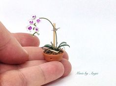 Dollhouse miniature orchid. One inch scale orchid. by MinisbyAngie on Etsy