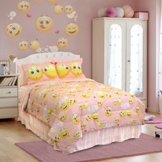 Emoji Pink And Yellow Smiley Face Bedding By Veratex Is