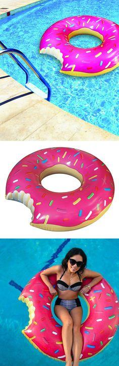 Gigantic donut pool float!