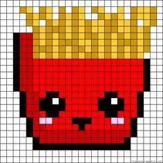 7 meilleures images du tableau Pixel art nourriture en 2015 | Hama beads patterns, Stitches et ...