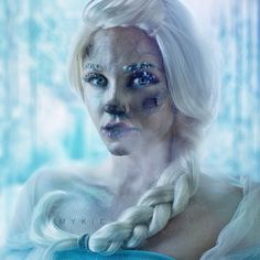 Are you guys tryna build a snowman? Cause I'll be honest, it's cold as shit and my frostbitten face is just not feelin' it.  Frozen Elsa, for the many of you who guessed right :) close up shot later if ya guys want! ⛄️❄️