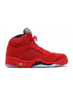 fb11df37682541 Air Jordan 5 Retro Red Suede University Red Black 136027 602 Nike Air Jordan  5