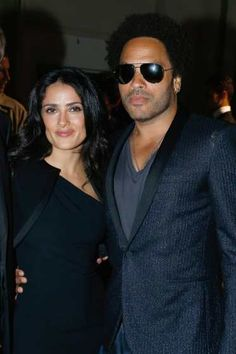 SalmaHayek and  LennyKravitz attend Saint Laurent show as part of the  Paris Fashion Week 4278a3487f39