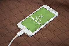 White Android Smartphone Mockup - Mediamodifier - Online mockup generator