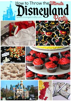 Would a Disneyland themed party be the perfect idea for your kid? Check out how I decorated my house as Disneyland, complete with Disney decorations and theme park food! Lots of free printables!