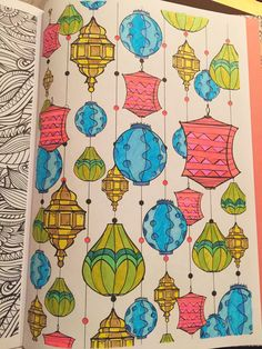 Lived Colour Lamps #colouring arte antiestres #arteantiestres