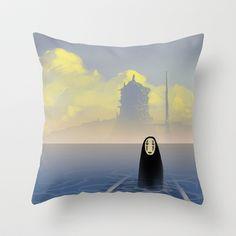 Kaonashi Throw Pillow by Roberto Nieto - $20.00