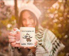 Cute sloth mug, I love hanging out with you funny coffee mug, sloth lover gift, sloth mug for her, cute sloth coffee cup sloth birthday gift Funny Coffee Mugs, Coffee Humor, Funny Mugs, Funny Gifts, Coffee Cup, Grandma Mug, New Grandma, Grandmother Gifts, Book Lovers Gifts
