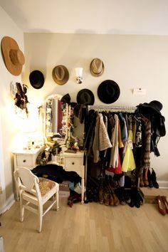 rolling clothes rack for what I wear most...