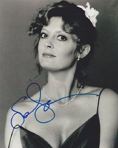 Susan Sarandon Autographed Signed 8X10 Photo COA 'Dead Man Waling Thelma & Louis