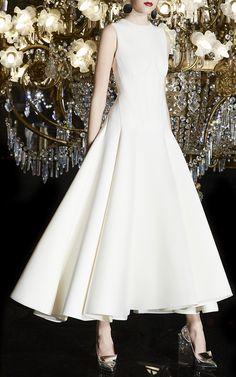 M'O Exclusive Neoprene Flared Midi Dress by Paule Ka Simple Wedding Gowns, Wedding Dresses, Paule Ka, Western Wear, Formal, Cute Dresses, Designer Dresses, One Shoulder Wedding Dress, Ball Gowns